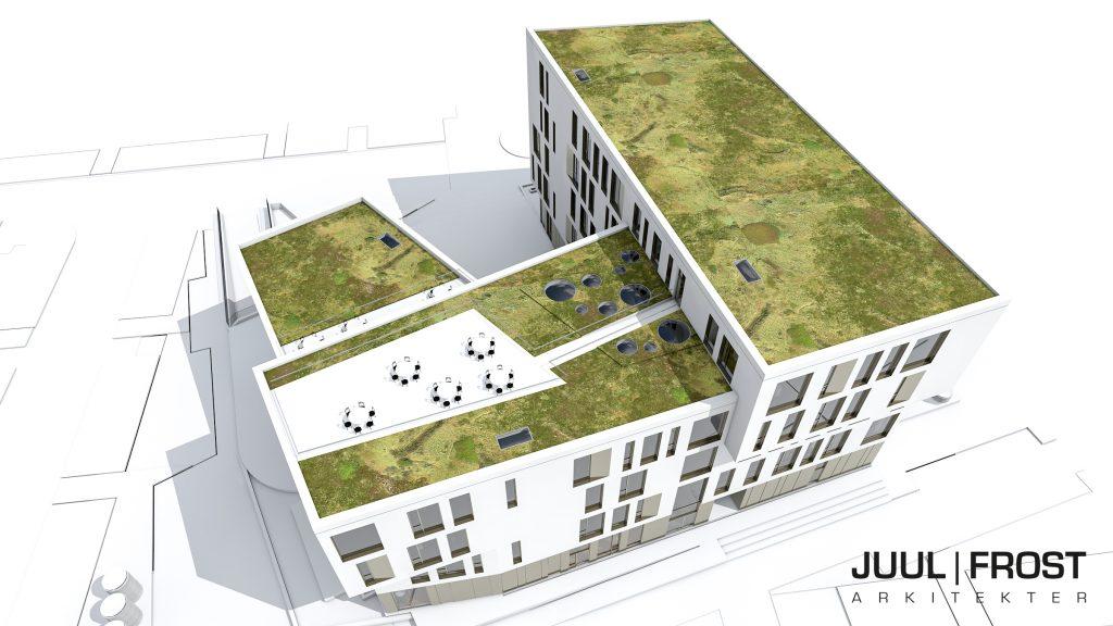 Kontor med tagterrasse Odense